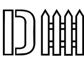 D-Fence. Black illustration of D-Fence Stock Photo