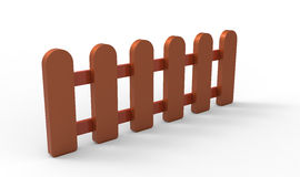 3D fence Royalty Free Stock Images