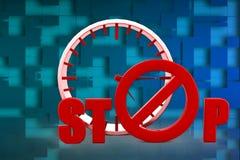 3D fermano l'illustrazione Fotografia Stock Libera da Diritti