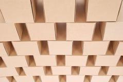 3D festgelegtes Bild Pyramide von den Kästen Lizenzfreies Stockfoto