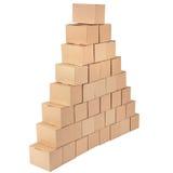 3D festgelegtes Bild Pyramide von den Kästen Stockbilder
