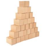 3D festgelegtes Bild Pyramide von den Kästen Stockfoto