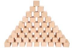 3D festgelegtes Bild Pyramide von den Kästen Lizenzfreies Stockbild