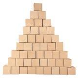 3D festgelegtes Bild Pyramide von den Kästen Stockbild