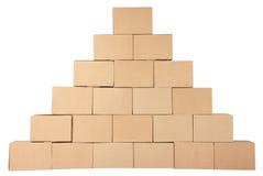 3D festgelegtes Bild Pyramide von den Kästen Lizenzfreie Stockfotos