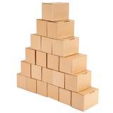 3D festgelegtes Bild Pyramide von den Kästen Lizenzfreie Stockfotografie