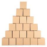 3D festgelegtes Bild Pyramide von den Kästen Stockfotografie