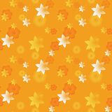 3d festive stars seamless pattern. Three dimensional depth series Royalty Free Stock Image