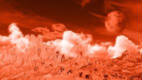 3D fictieve ruimteachtergrond Stock Afbeeldingen