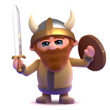 3d Fierce viking. 3d render of a viking let out a hearty roar Royalty Free Stock Image
