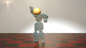 3d figure animated and dancing stock video footage