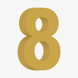 3D figure 8 Royalty Free Stock Images