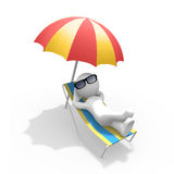 3D figure on holiday Stock Photo