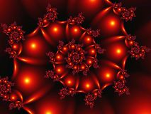 3d figure made in the form of an abstract fractal spiral with balls and ornaments vector illustration