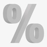 3D figure percent Stock Images