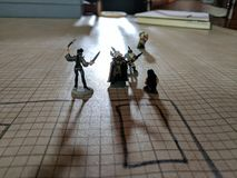 Dungeons and dragons figures Royalty Free Stock Photo
