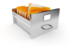3d file cabinet Stock Images