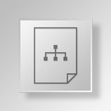 3D file diagram icon Business Concept Royalty Free Stock Images