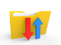 3d file folder with up and down arrows Royalty Free Stock Images