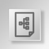 3D file work flow Button Icon Concept. 3D Symbol Gray Square file work flow Button Icon Concept Royalty Free Stock Photo