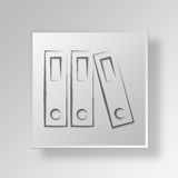 3D Files Button Icon Concept. 3D Symbol Gray Square Files Button Icon Concept Stock Photography
