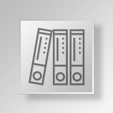 3D Files Button Icon Concept. 3D Symbol Gray Square Files Button Icon Concept Royalty Free Stock Photography