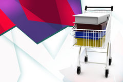 3d files in cart illustration Royalty Free Stock Photo