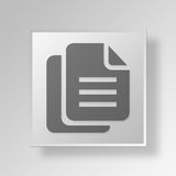 3D Files icon Business Concept. 3D Symbol Gray Square Files icon Business Concept Royalty Free Stock Photography