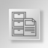 3D  Filing Cabinet Button Icon Concept Royalty Free Stock Photo