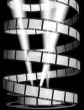 3d: Film med strålkastare och rullen Arkivbilder