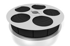 3D film reel. And movie tape - great for topics like cinema/ movie theater, entertainment etc Royalty Free Stock Photo