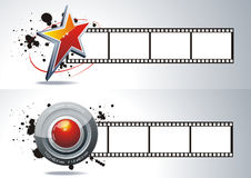3d film reel. Vector realistic 3d film reel Stock Photo
