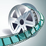 3d film reel. Vector realistic 3d film reel Stock Photography