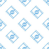 3d film seamless pattern. 3d film white and blue seamless pattern for web design. Vector symbol Royalty Free Stock Photography