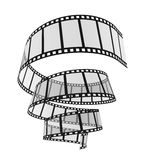3d Film Strip. Image with clipping path Stock Photos