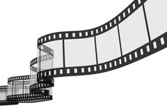 3d film strip. On white background Stock Photos