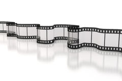 3d film strip. On white background Royalty Free Stock Image