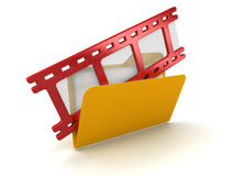 3d filmstrip in Folder Stock Images
