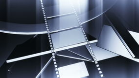 3D filmstrip motion. In virtual space with light and streaks effect royalty free illustration