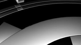 3D filmstrip motion stock video