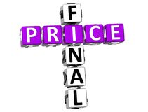 3D Final Price Crossword. Over white background Stock Photos