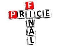 3D Final Price Crossword. On white background Royalty Free Stock Image