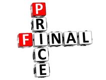 3D Final Price Crossword. On white background Royalty Free Stock Photography