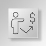 3D finance Button Icon Concept. 3D Symbol Gray Square finance Button Icon Concept Royalty Free Stock Photo