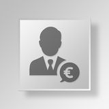 3D finance Button Icon Concept. 3D Symbol Gray Square finance Button Icon Concept Stock Images
