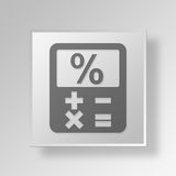 3D Finance calculator Button Icon Concept Stock Images