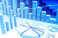 3d finance graphics Royalty Free Stock Photos
