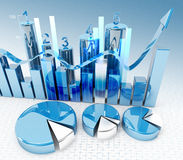 3d finance graphics. 3d high quality rendering Stock Images