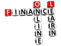 3D Finance Oline Learn Crossword. On white background Stock Image