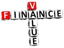 3D Finance Value Crossword Royalty Free Stock Photos